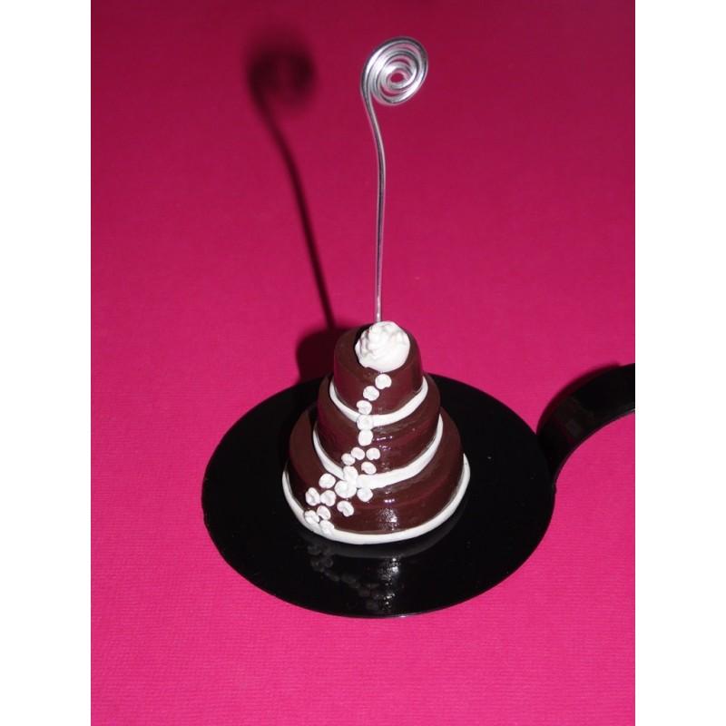 Pin porte nom en feutrine gourmande cuisine et service de table par cake on p - Marque place pour mariage ...