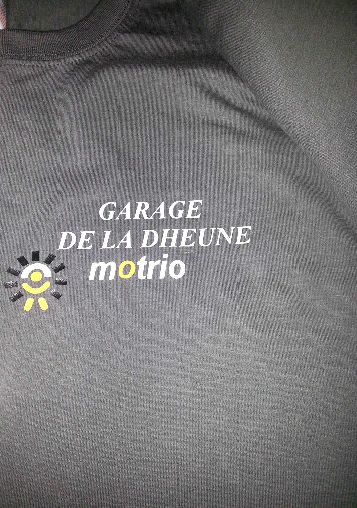 Tee-shirt personnalisé pour garage automobile