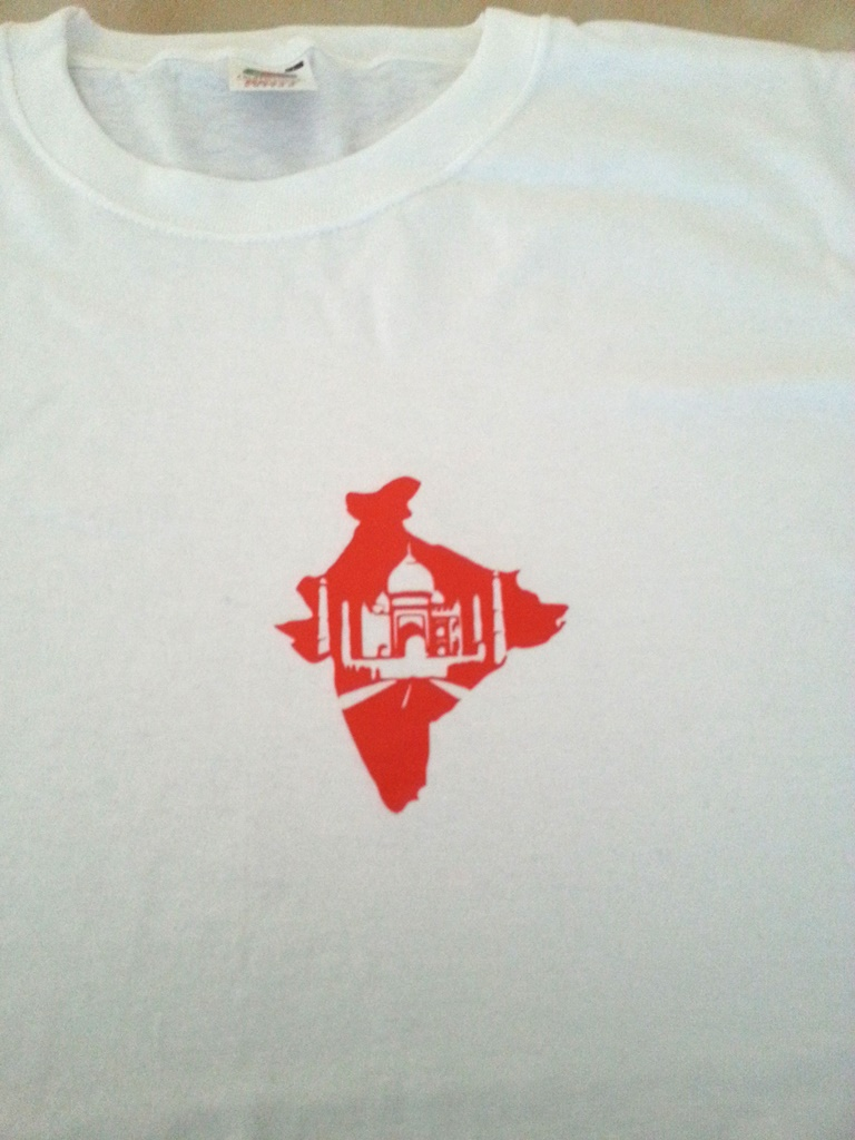tee-shirt personnalisé flocage Inde & Taj Mahal