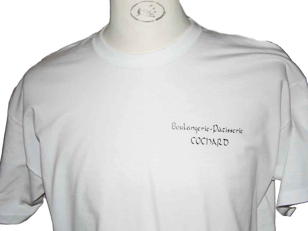 tee-shirt flocage textile pour boulangerie
