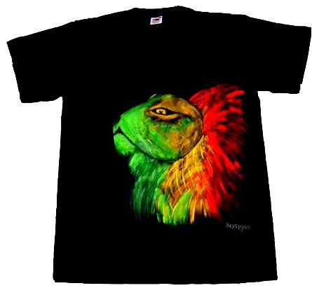 Tee-shirt personnalisé lion ratafari