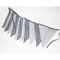 Guirlande fanions x12 en tissus thème étoile