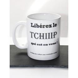 "Mug blanc personnalisé "" Tchip """