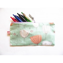 Trousse Dandelions couleurs pastels - Trousse crayons ou maquillage