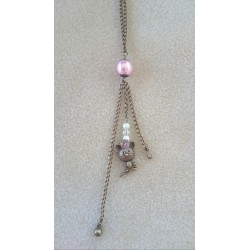 Collier Missy avec perles Swarovski - bijou couleur bronze