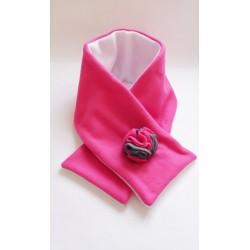 écharpe polaire rose & blanche pour petite fille