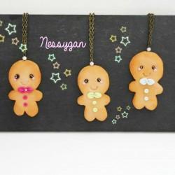 "Collier Gingerbread "" Kikinou "" avec perle Swarovski"