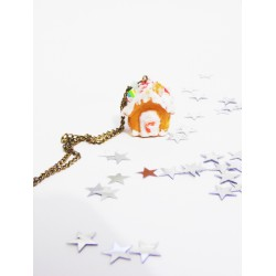 Collier Maison pain d'épices - Gingerbread House