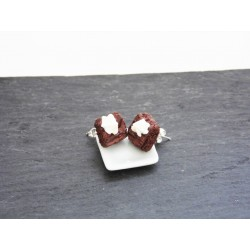 boucles d'oreille brownie & chantilly - Bijou gourmand