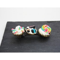 Barrette bonbon Rainbow gourmande