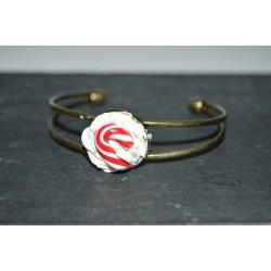 Bracelet Sucre d'orge rouge & blanc