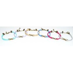 Bracelet infini suédine couleur aux choix