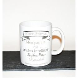 """Mug personnalisé """" Super parrain ! """""""