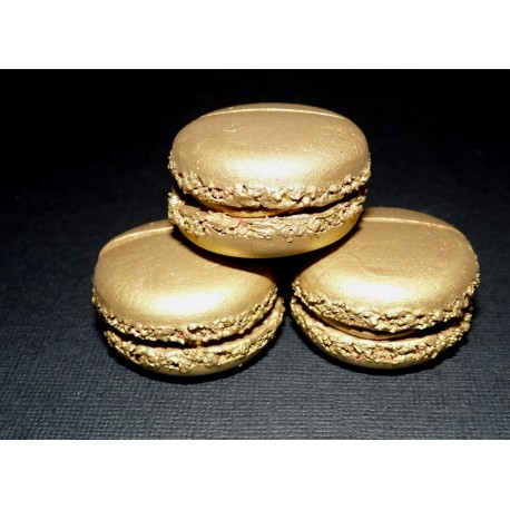 Marque-place macaron couleur or