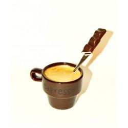 Petite cuillère personnalisée avec barre chocolatée - cuillère à thé, café , dessert