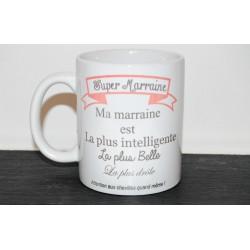 """Mug personnalisé """" Super marraine """""""