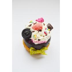 Boîte à dragées cupcake gourmand pour baptême, mariage