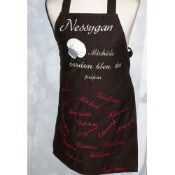 Tablier de cuisine personnalisé par des prénoms