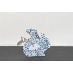 Ballotin écureuil pour dragées Liberty adelajda bleu