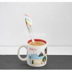 Petite cuillère personnalisée avec une guimauve - cuillère à thé, café , dessert