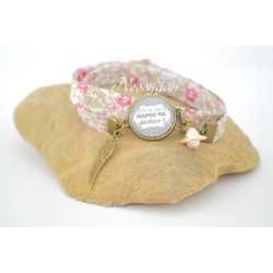 Bracelet Liberty Éloïse rose Tu es une nounou qui déchire