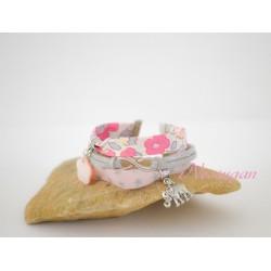 Bracelet liberty Betsy bougainvillée & étoiles
