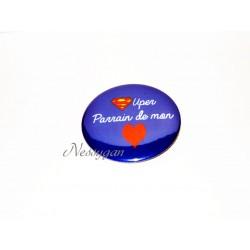 Badge personnalisé Super Parrain