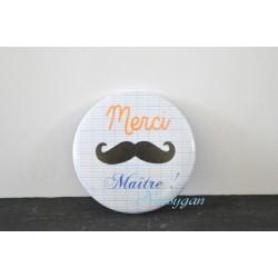"""Magnet moustache """"Merci maître ! """""""