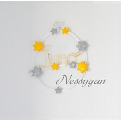 Plaque de porte thème étoiles pour chambre d'enfant