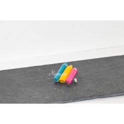 Broche crayons de couleurs
