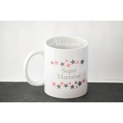 """Mug personnalisé """"Super marraine """""""
