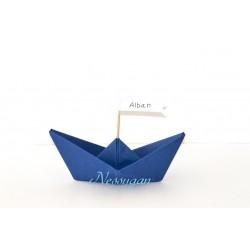 Marque-place bateau origami