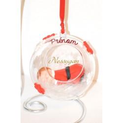 """Boule de Noël """" Etoiles des neiges """" avec bébé personnalisée par un prénom"""