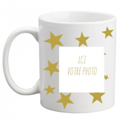 Mug avec étoiles personnalisé avec une photo