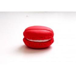 Marque-place macaron rouge intérieur blanc
