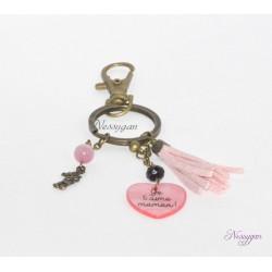 """Porte-clés """"Je t'aime maman !"""" - cadeau personnalisé"""