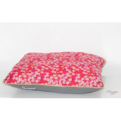 Coussin Liberty mitsi rouge
