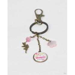 """Porte-clés """" Super maman, je t'aime !"""" - cadeau personnalisé"""