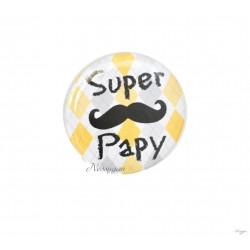 """Magnet moustache """" Super Papy"""""""