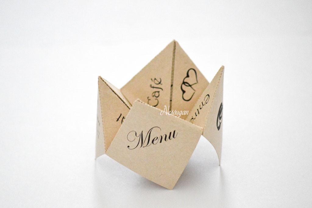 Fabuleux Menu cocotte jaune en papier pour un mariage, baptême HF31