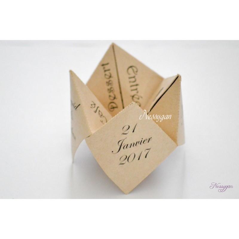 Populaires Menu cocotte en papier pour un mariage, baptême ME47