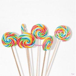 Sucettes x6 Lollipops rainbow