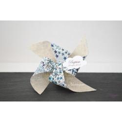 Ballotin moulin à vent Liberty Adelajda étoiles bleues