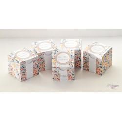 Boîte à dragées étoiles multicolores pour baptême, communion