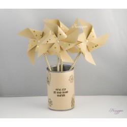 Moulin à vent étoiles dorées