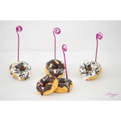 "Marque-place donut's gourmand ""thème gourmandise "" mariage, baptême"