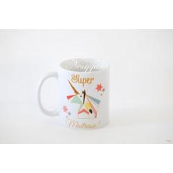 """Mug licorne """"Super maîtresse"""""""
