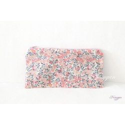 Trousse Liberty rose pois de senteur