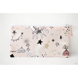 Trousse imprimée girly circus