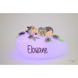 """Veilleuse personnalisée bébé """"Violette"""""""